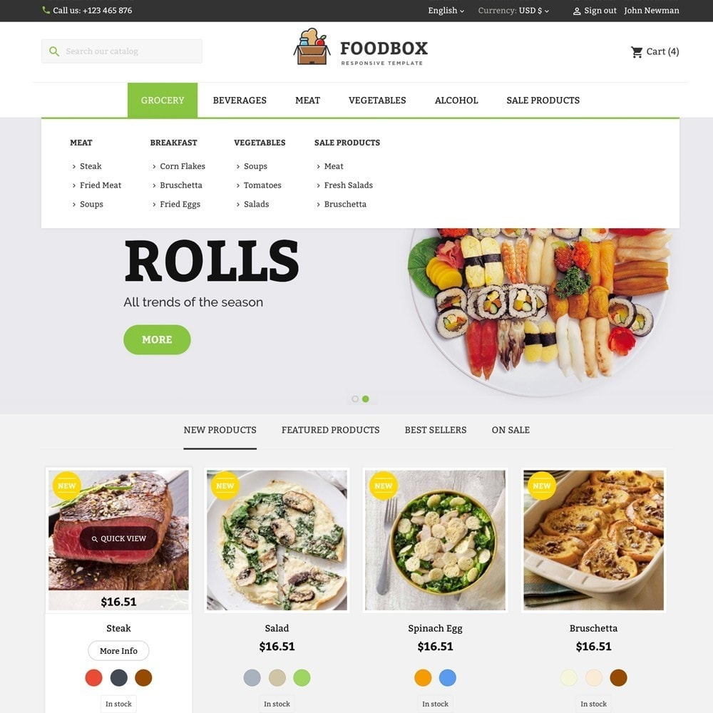 theme - Food & Restaurant - FOODBOX - 2