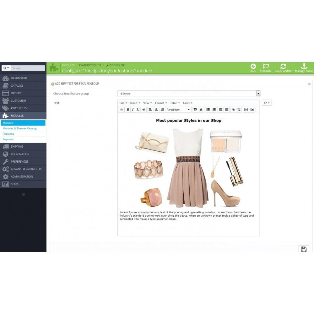 module - Страница продукта - Подсказки для свойств на странице товара - 3