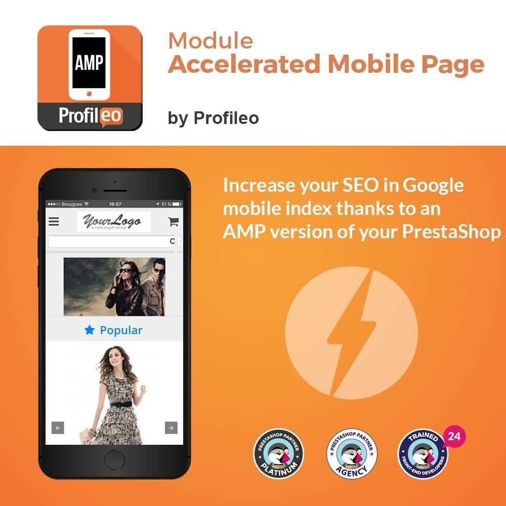 module - Desempenho do Site - Accelerated Mobile Pages (AMP) PRO - 1