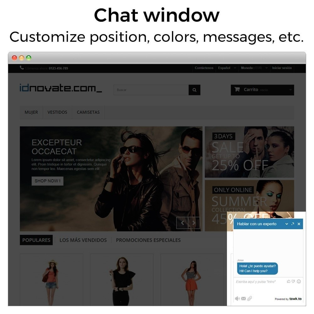 module - Supporto & Chat online - Tawk.to - The Best Free Livechat - Multilanguage - 2