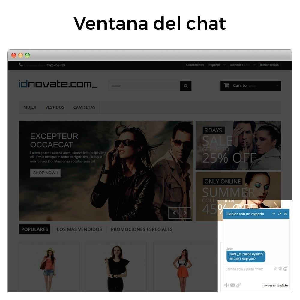 module - Asistencia & Chat online - Tawk.to - Chat integrado en tiempo real - Multilenguaje - 2