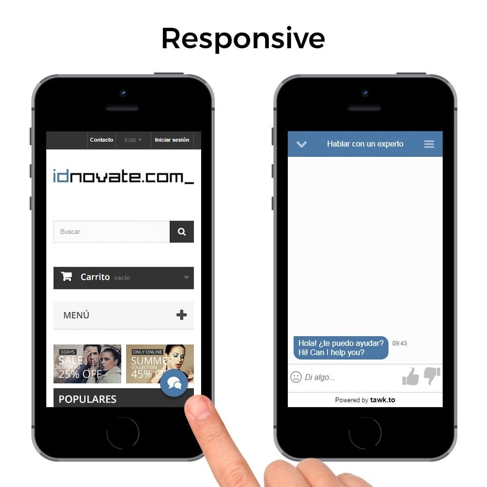 module - Asistencia & Chat online - Tawk.to - El Mejor Chat Gratuito - Multilenguaje - 5