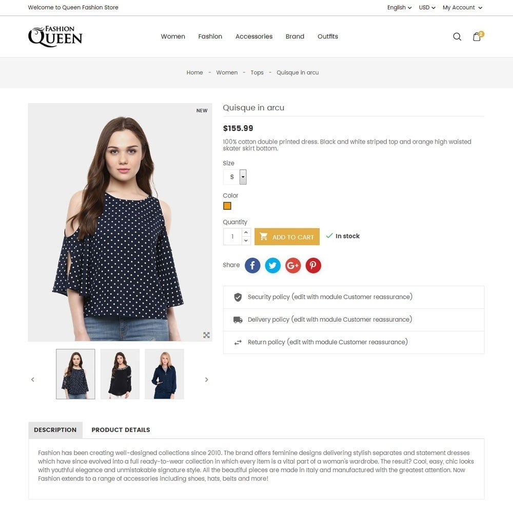 theme - Mode & Chaussures - Queen Fashion Store - 7