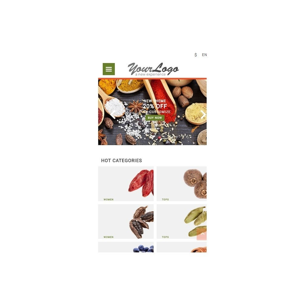 theme - Alimentos & Restaurantes - UP Spice Store - 4