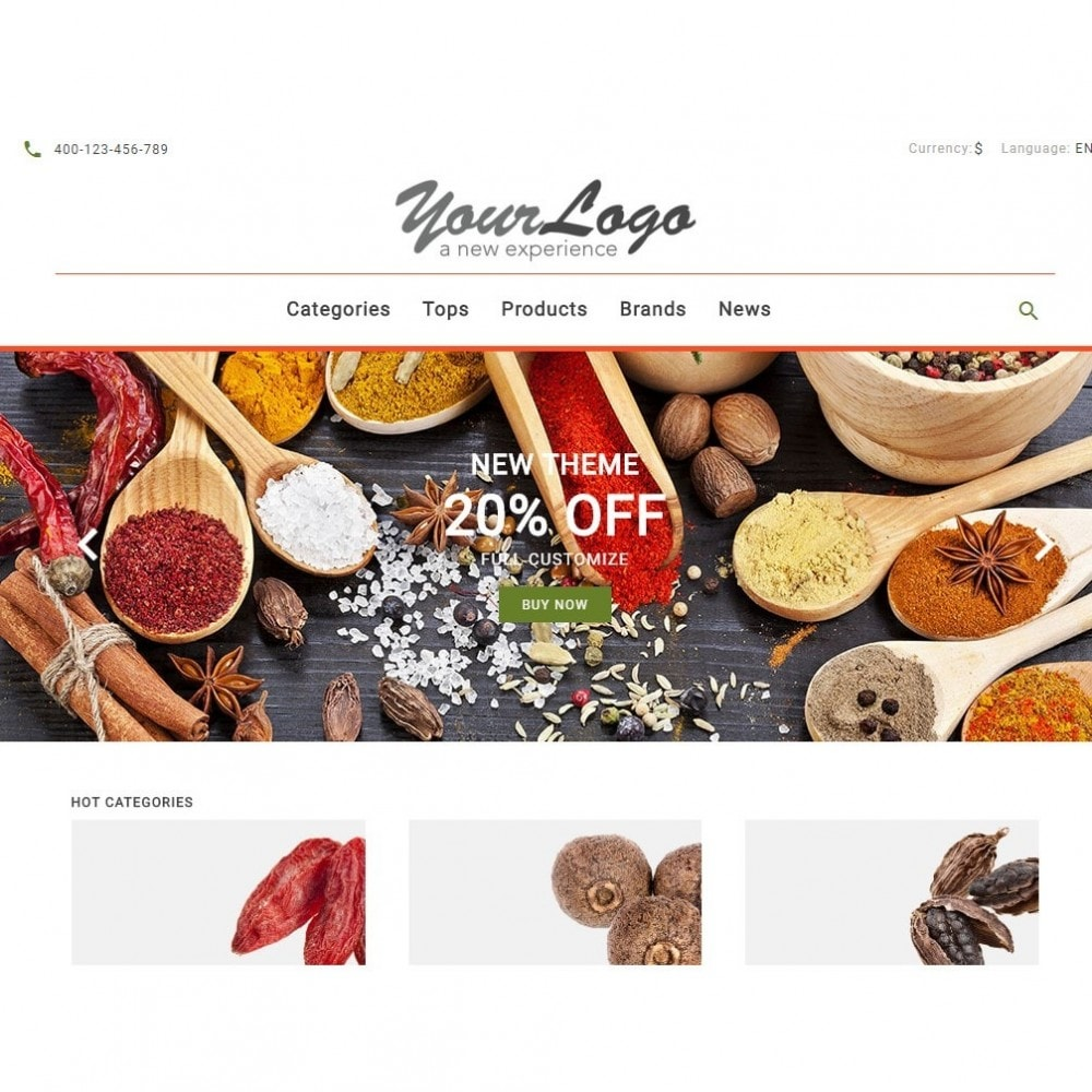 theme - Alimentos & Restaurantes - UP Spice Store - 6