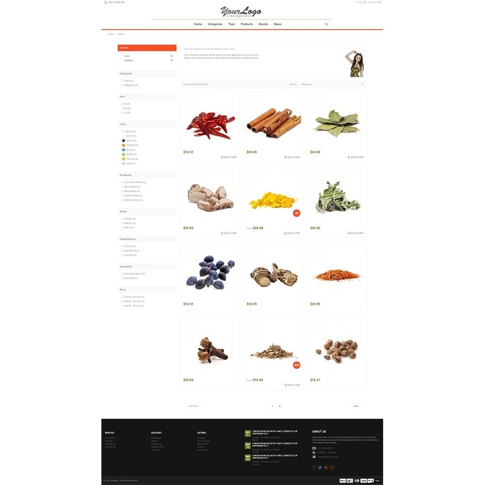theme - Food & Restaurant - UP Spice Store - 7