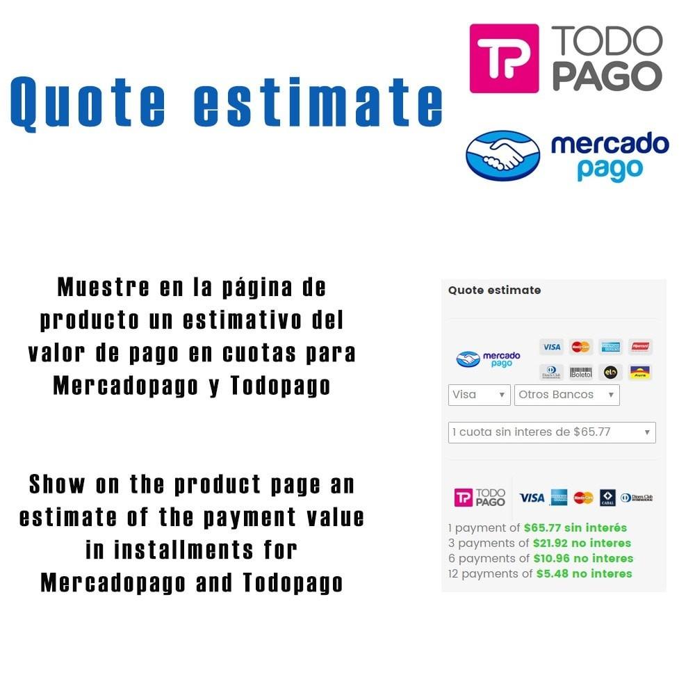 module - Pagamento con Carta di Credito o Wallet - Calc Quote Mercadopago / Todopago - 1