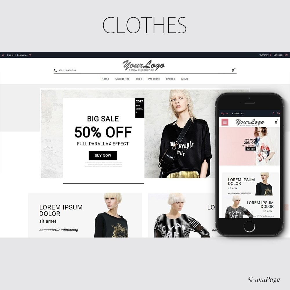 theme - Мода и обувь - UP Moco Clothes Store - 1
