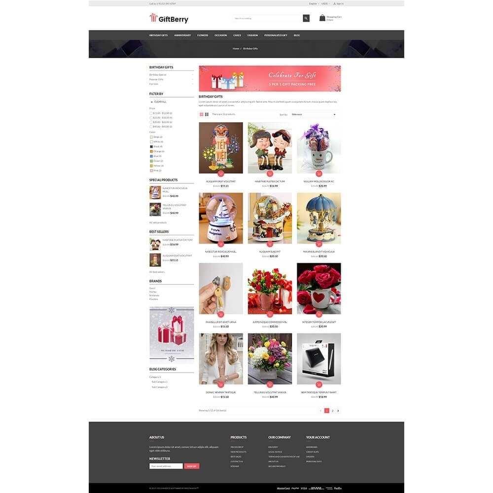 theme - Gifts, Flowers & Celebrations - Gift berry - 3