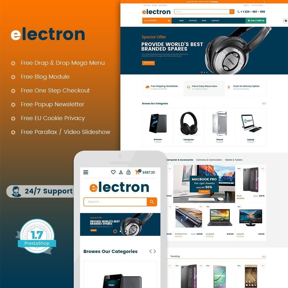 theme - Eletrônicos & High Tech - Electron - Digital, Electronics & Hi-Tech Store - 1