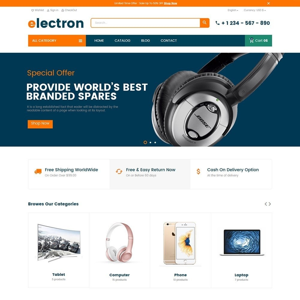 theme - Eletrônicos & High Tech - Electron - Digital, Electronics & Hi-Tech Store - 2