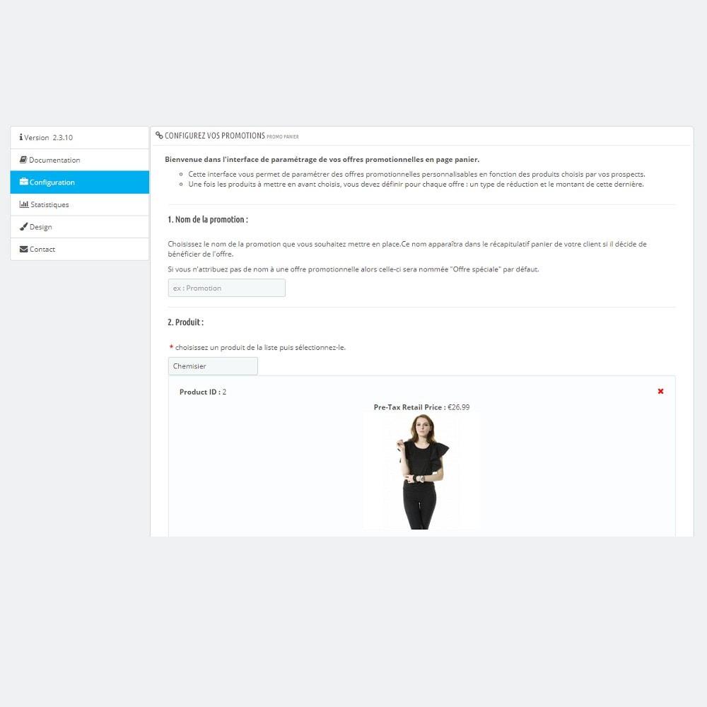 module - Ventes croisées & Packs de produits - Promotion Panier (Upselling) - 4