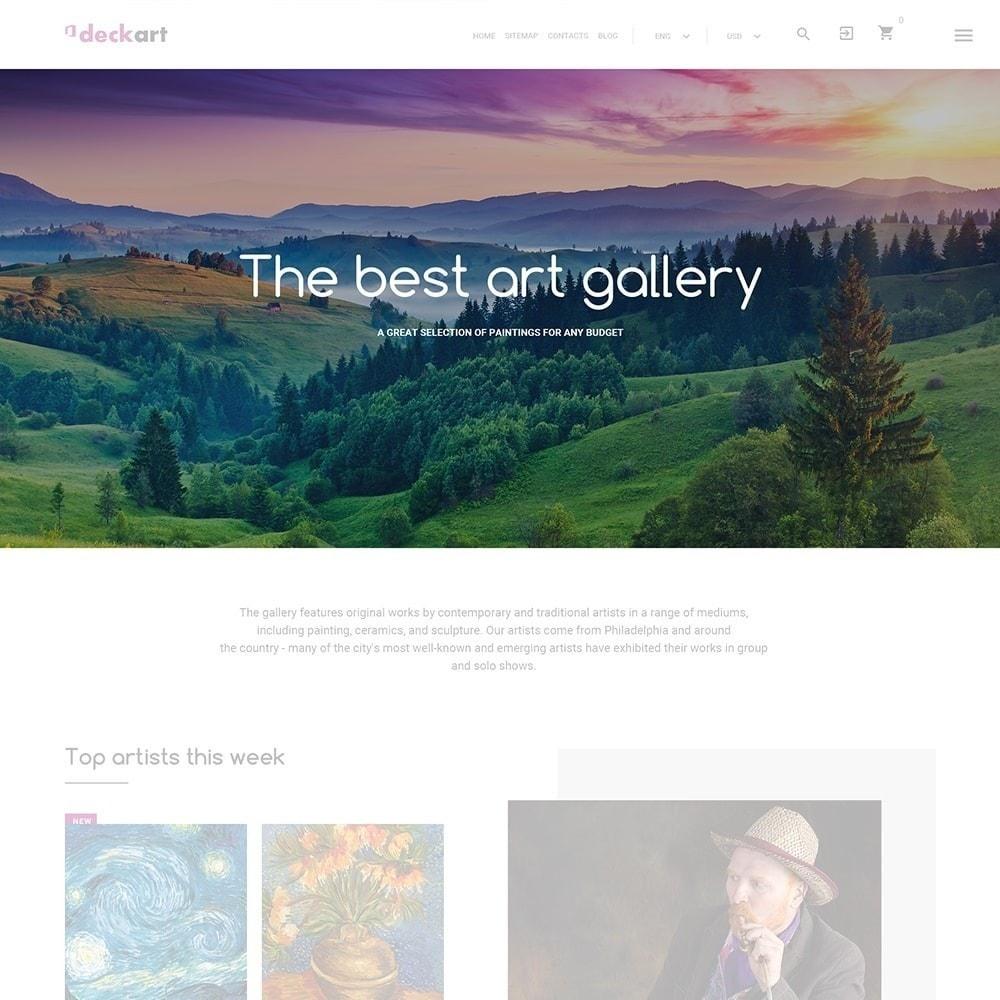 theme - Art & Culture - DeckArt - Responsive Theme - 2