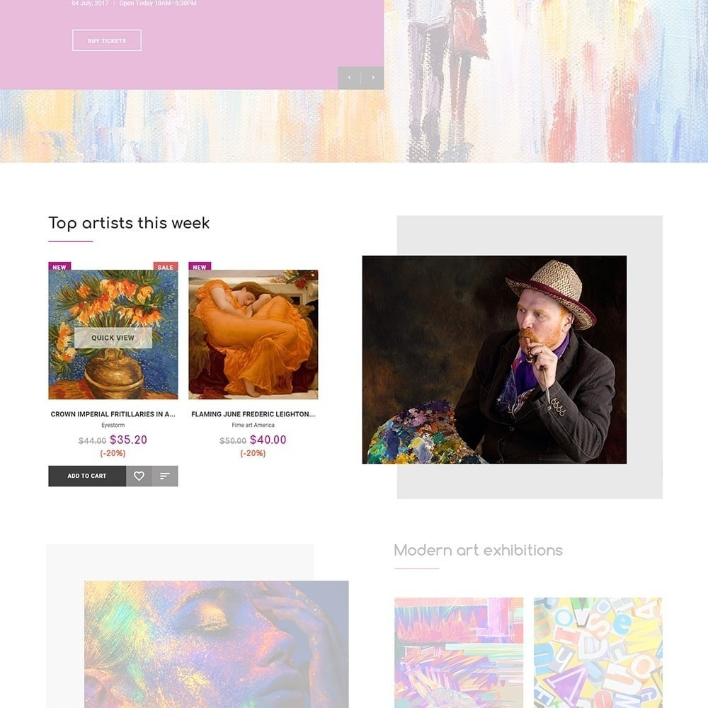 theme - Art & Culture - DeckArt - Responsive Theme - 3