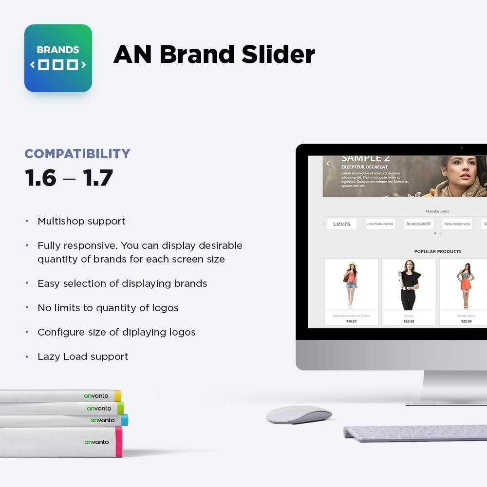 module - Sliders & Galerias - AN Brand Slider: partners, manufacturers logo carousel - 1