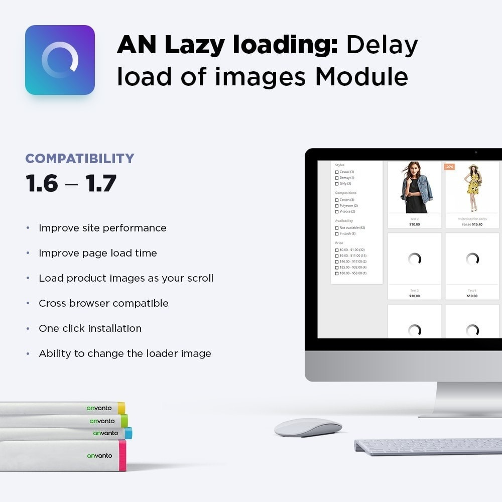 module - Desempenho do Site - AN Lazy loading: Delay load of images - 1