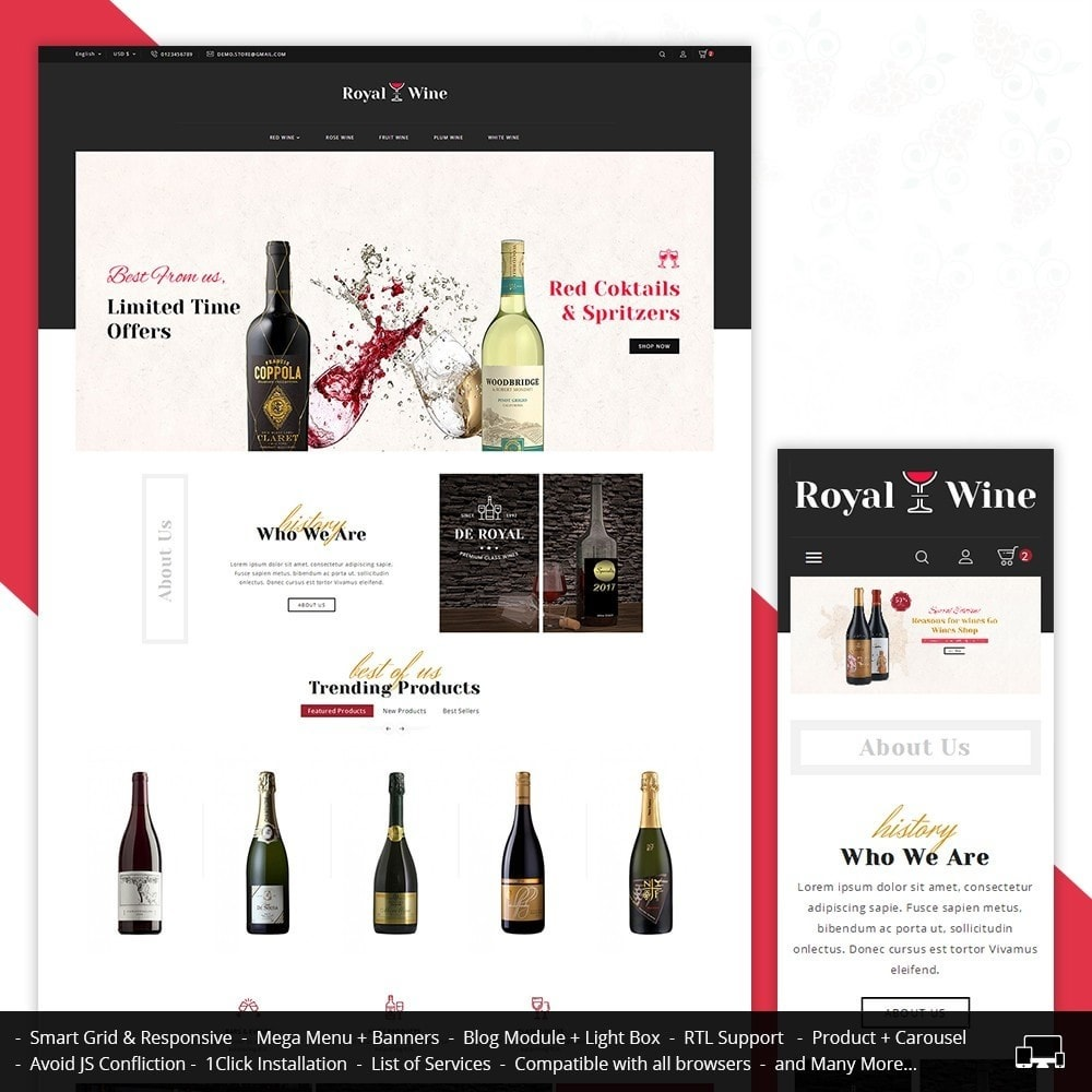 theme - Drink & Wine - Royal Wine - 1