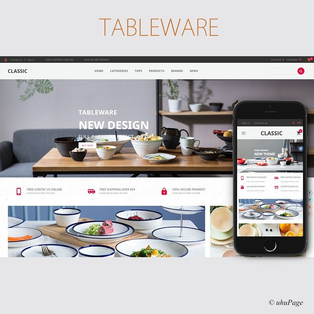 theme - Дом и сад - UP Tableware Store - 1