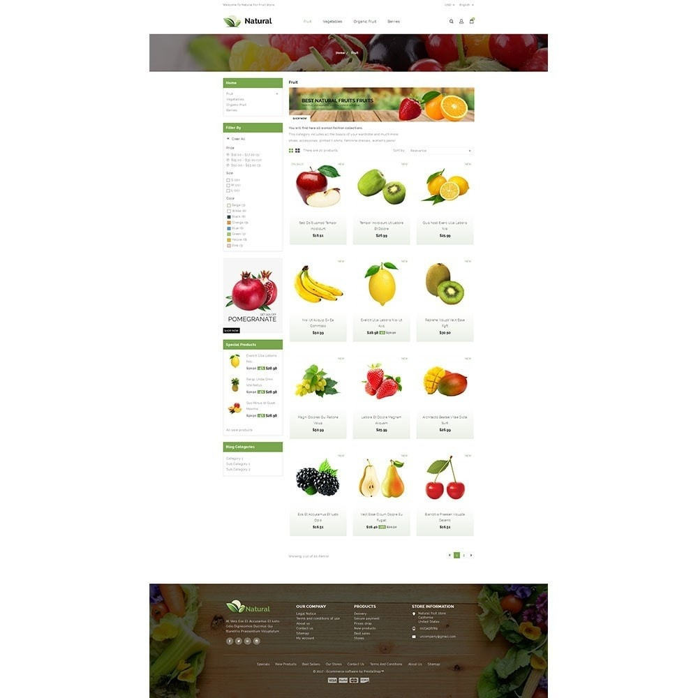 theme - Gastronomía y Restauración - Natural Fruit Store - 3