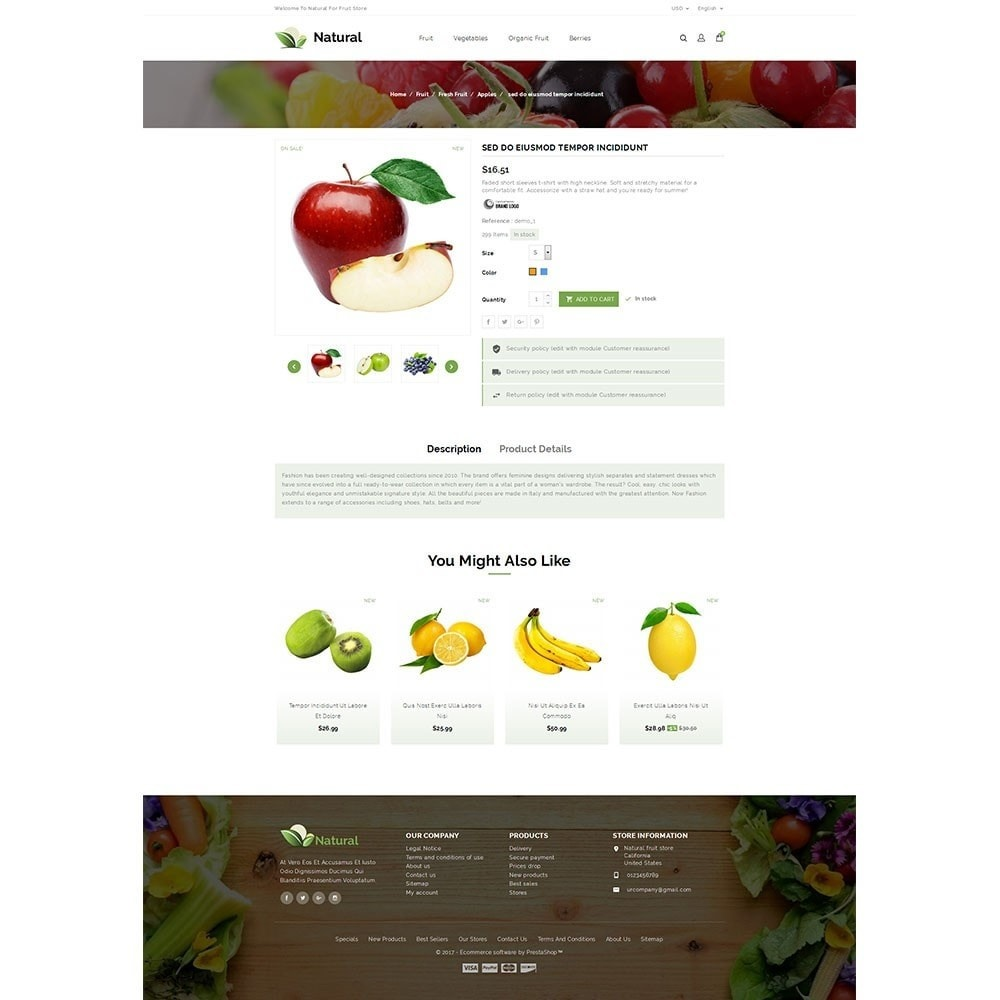 theme - Alimentation & Restauration - Natural Fruit Store - 5