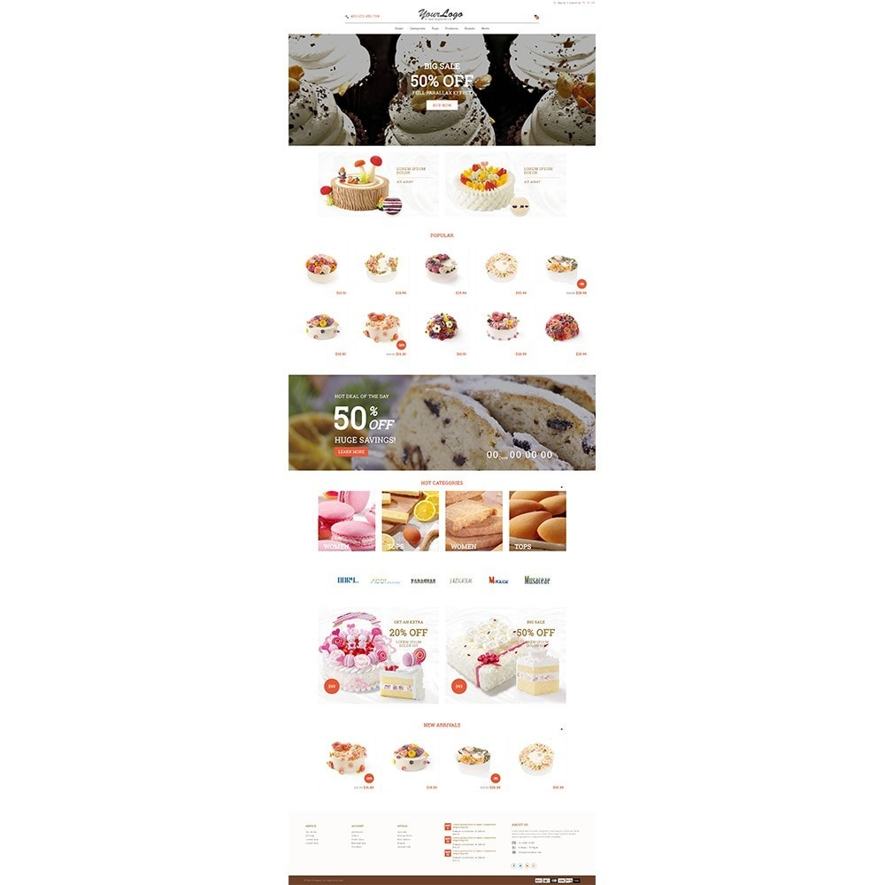 theme - Alimentos & Restaurantes - UP Cake Store - 3