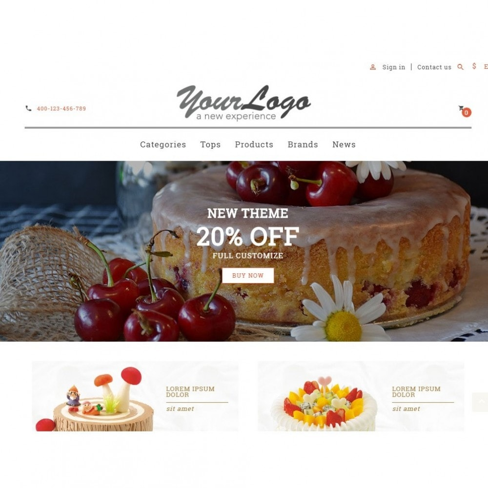theme - Alimentos & Restaurantes - UP Cake Store - 4