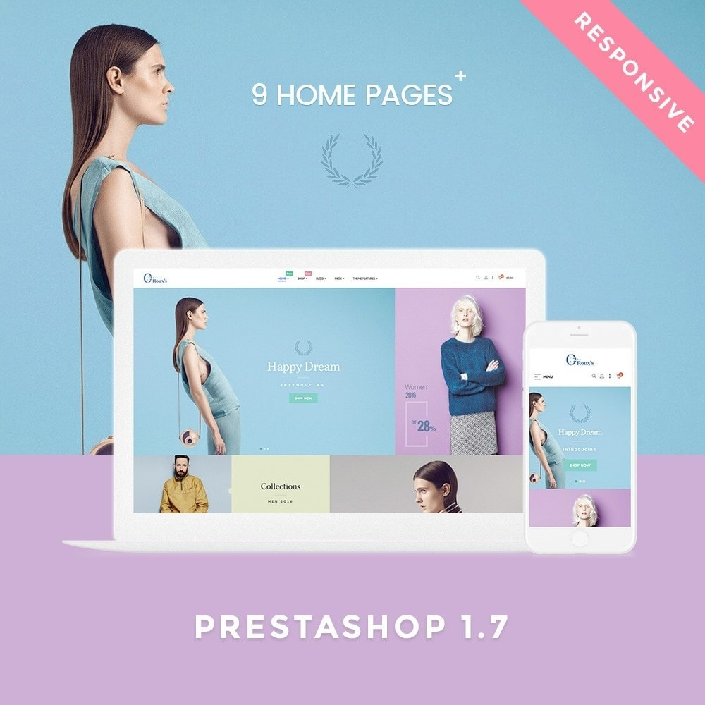 theme - Moda & Obuwie - O2 Fashion Store Responsive Multiple Prestashop Theme - 1