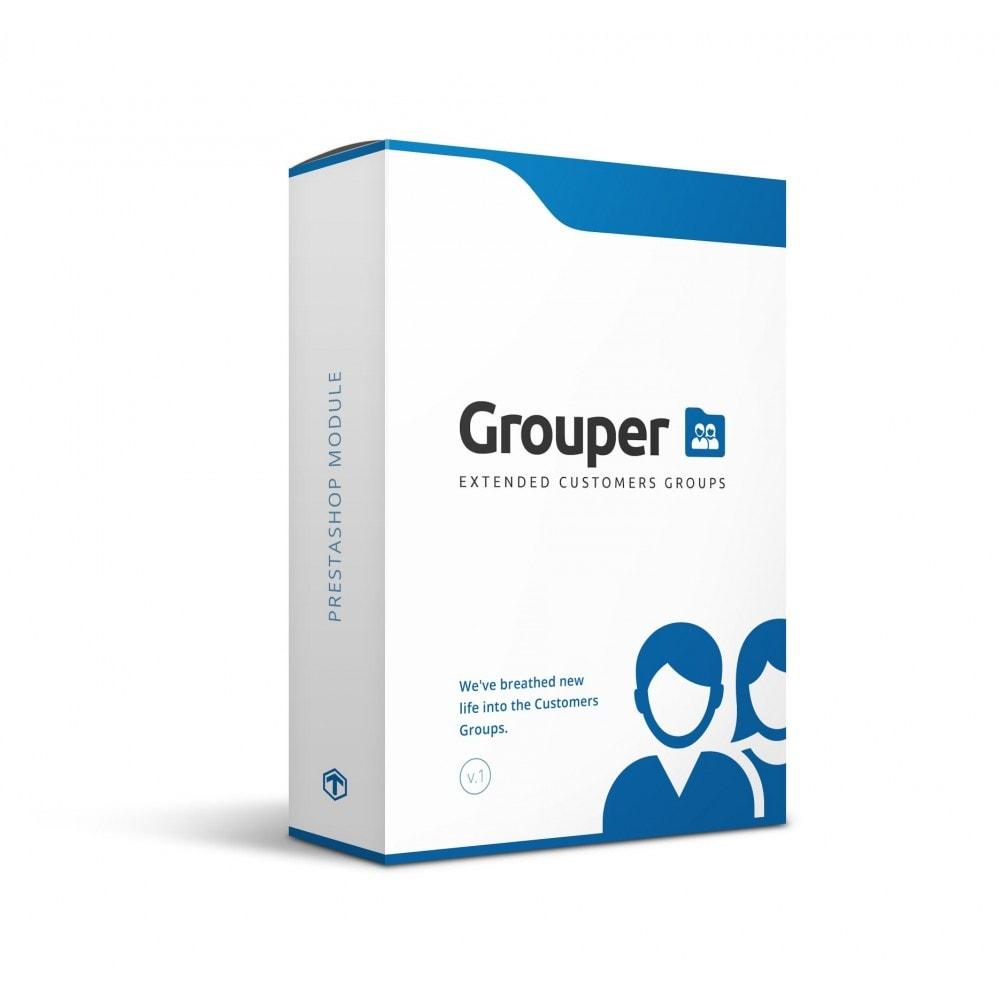 module - Управления учетными записями клиентов - Grouper - Extended Customers Groups - 1