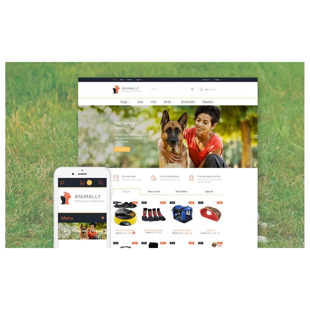 theme - Template PrestaShop - Animally - 2