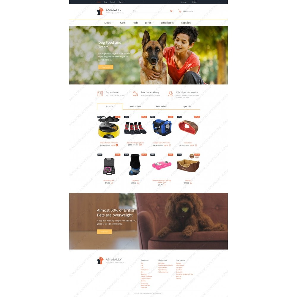 theme - Template PrestaShop - Animally - 3