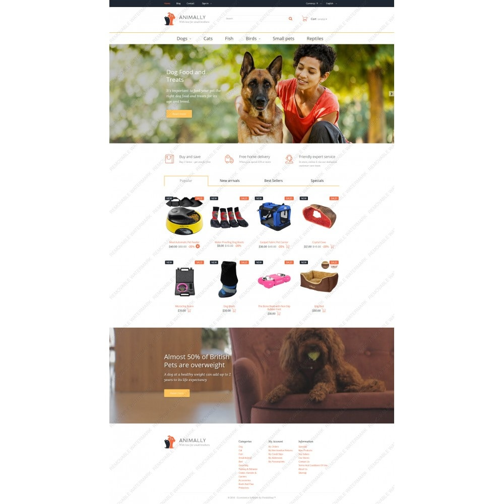 theme - Template PrestaShop - Animally - 5