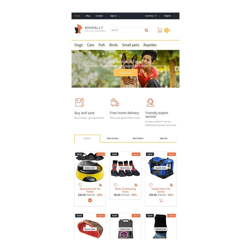 theme - PrestaShop Themen - Animally - 8