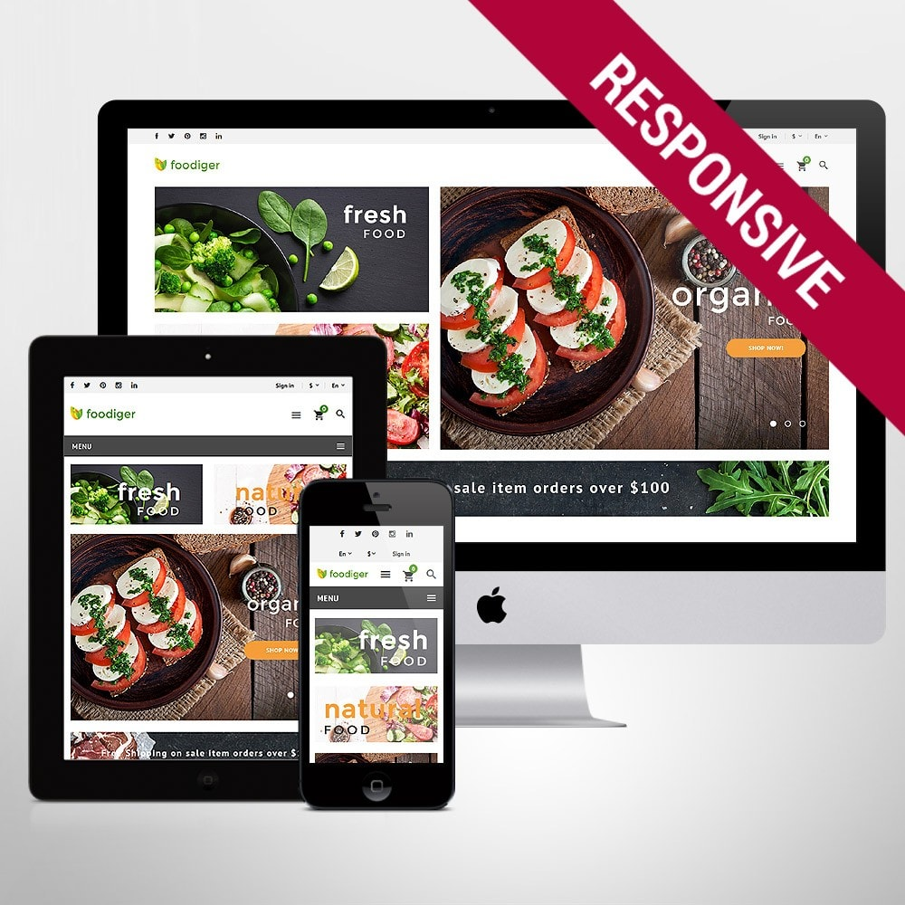 theme - Food & Restaurant - Foodiger - Grocery Store - 1