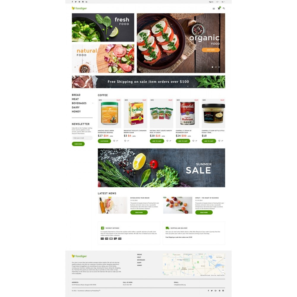 theme - Food & Restaurant - Foodiger - Grocery Store - 4