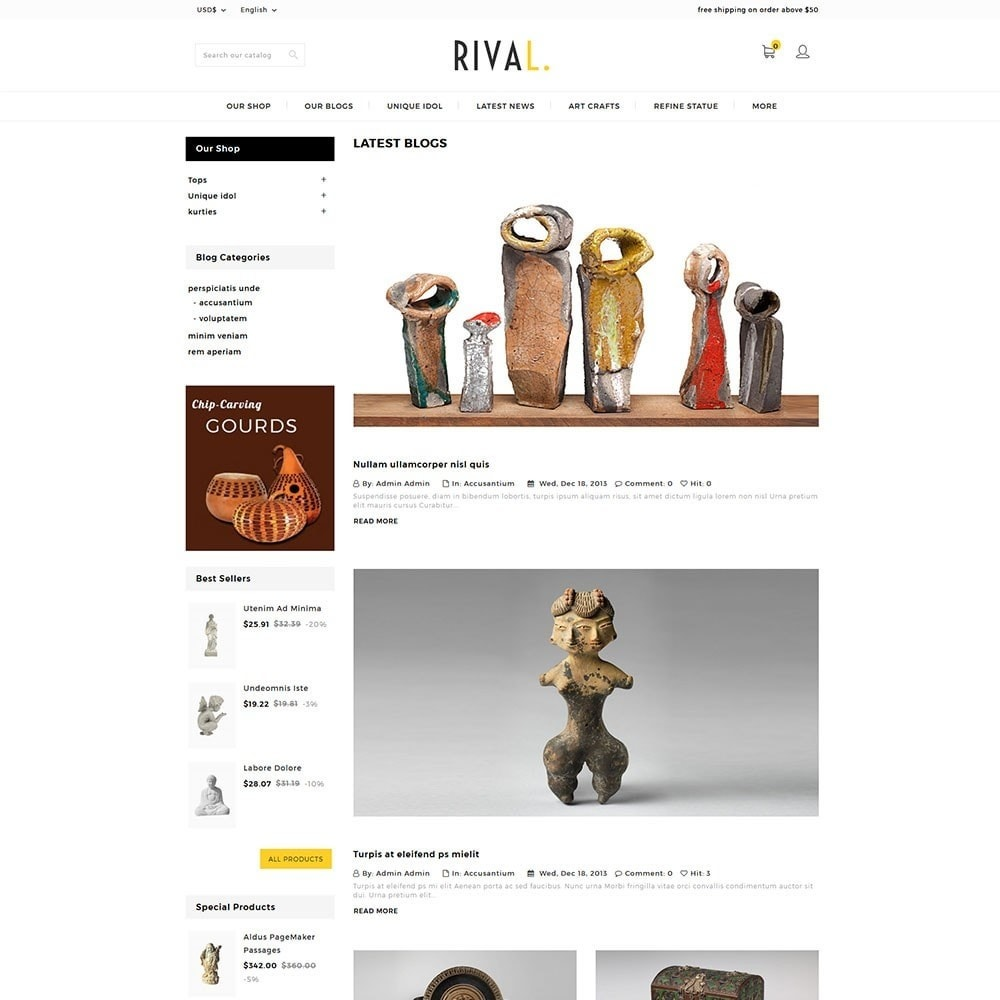 theme - Arte y Cultura - Rival Art & Craft Store - 6