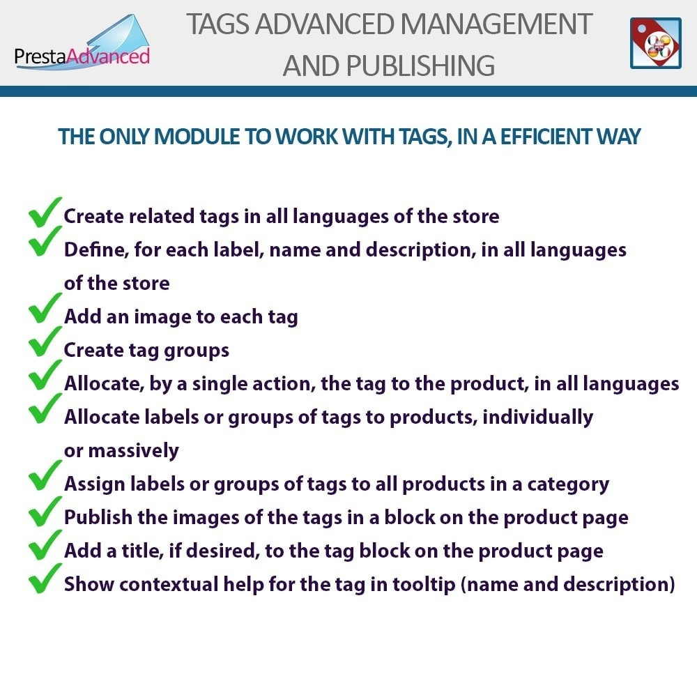 module - Badge & Loghi - Tags: Advanced Management and Publishing - 2