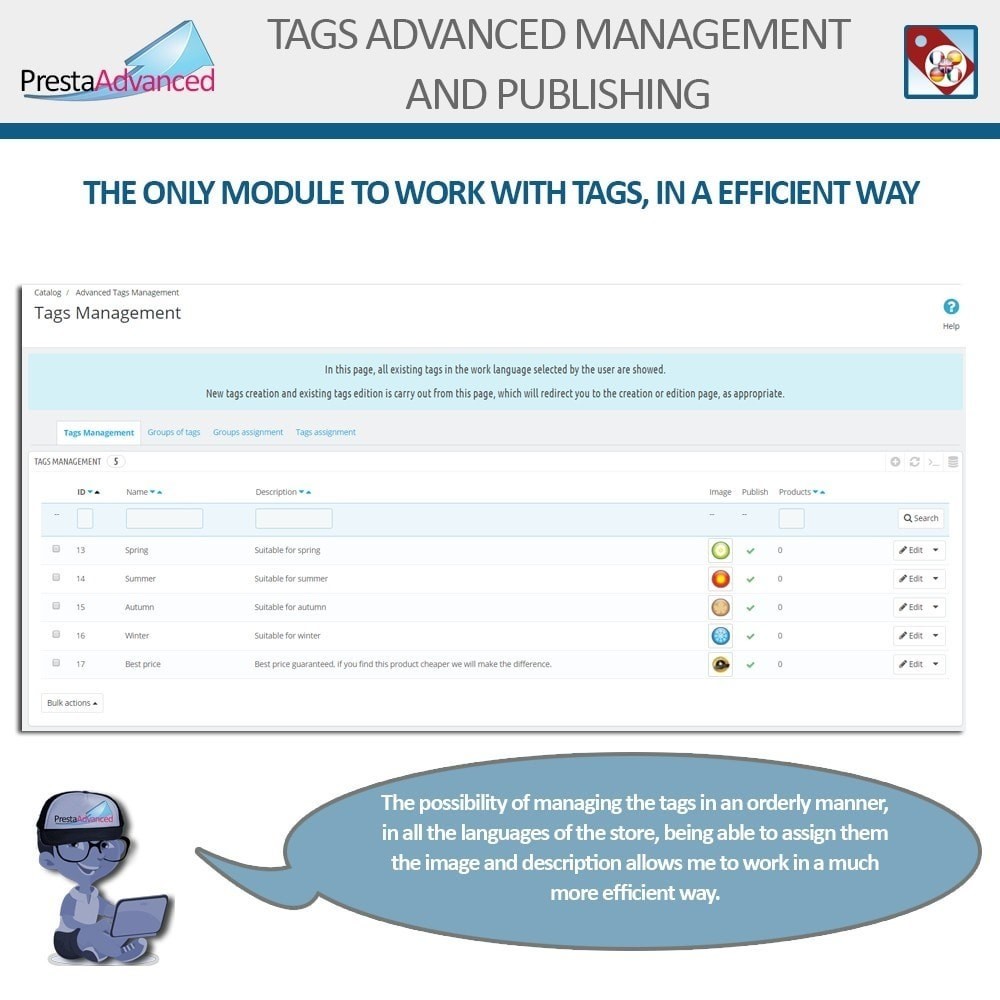 module - Odznaki & Logo - Tags: Advanced Management and Publishing - 3