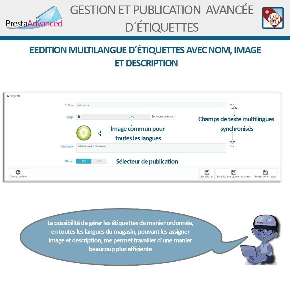 module - Etiquettes & Logos - Étiquettes: Gestion avancée et Publication - 4