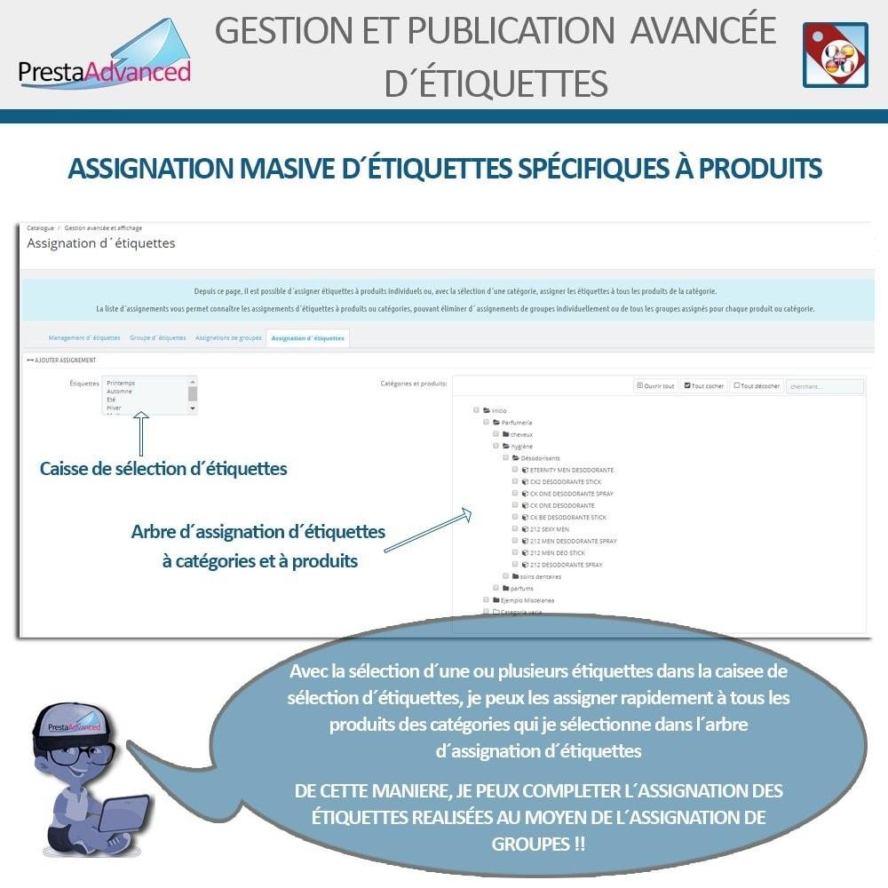 module - Etiquettes & Logos - Étiquettes: Gestion avancée et Publication - 9