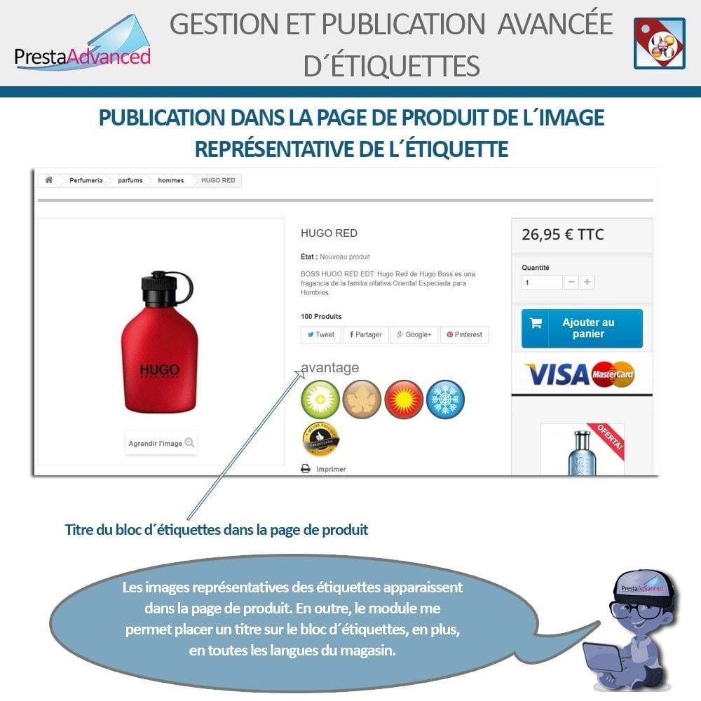module - Etiquettes & Logos - Étiquettes: Gestion avancée et Publication - 11