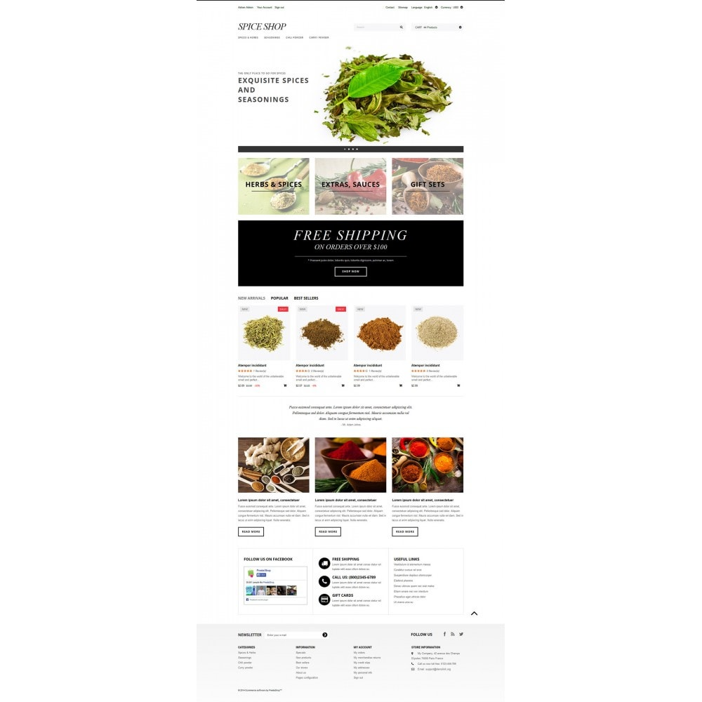 theme - Food & Restaurant - Spices and Seasonings - 2