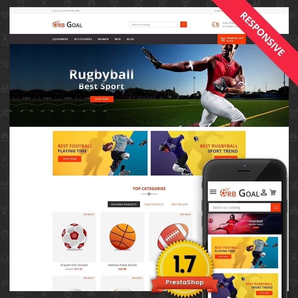 theme - Sports, Activities & Travel - Orb Goal Sports Store - 1