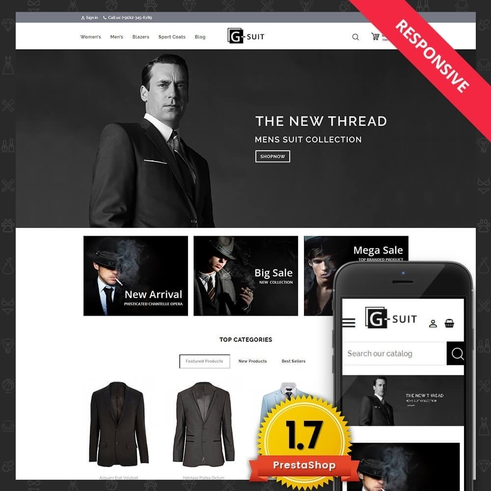 theme - Moda & Calçados - Suit Fashion Store - 1
