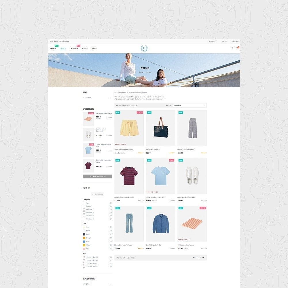 theme - Mode & Chaussures - H2 Fashion Store Responsive Multiple Prestashop Theme - 2