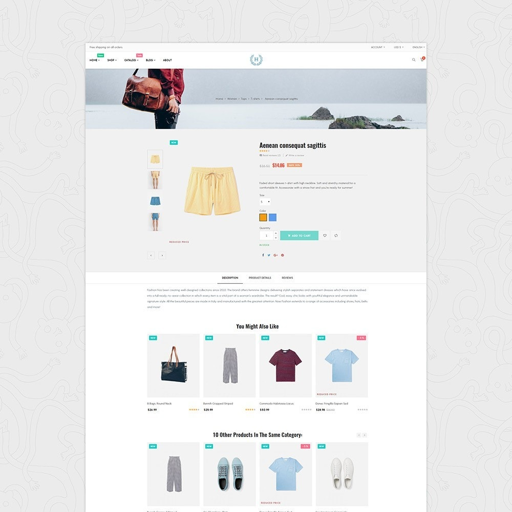 theme - Moda & Obuwie - H2 Fashion Store Responsive Multiple Prestashop Theme - 3