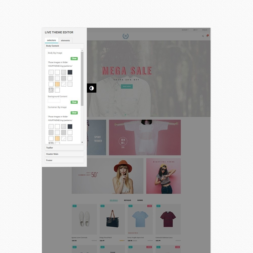 theme - Moda & Obuwie - H2 Fashion Store Responsive Multiple Prestashop Theme - 5