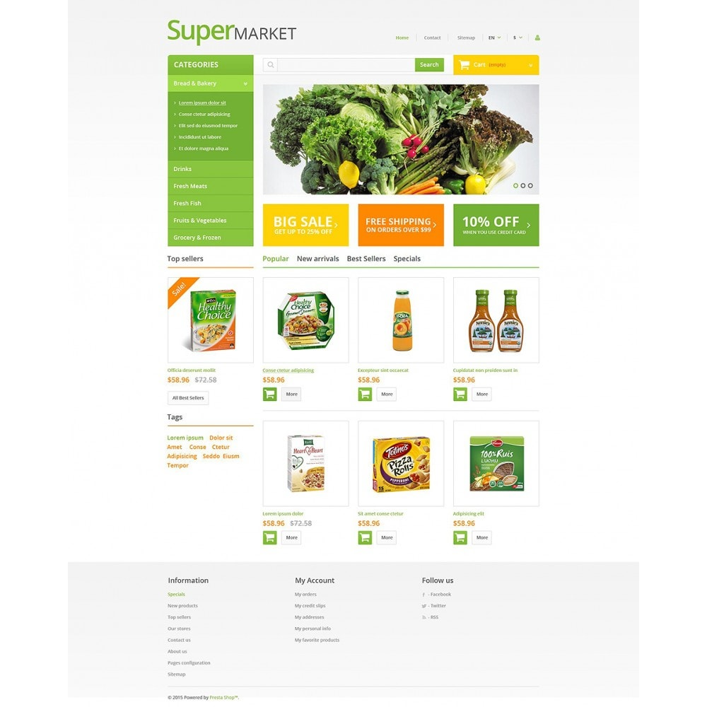 theme - Food & Restaurant - Supermarket - 2