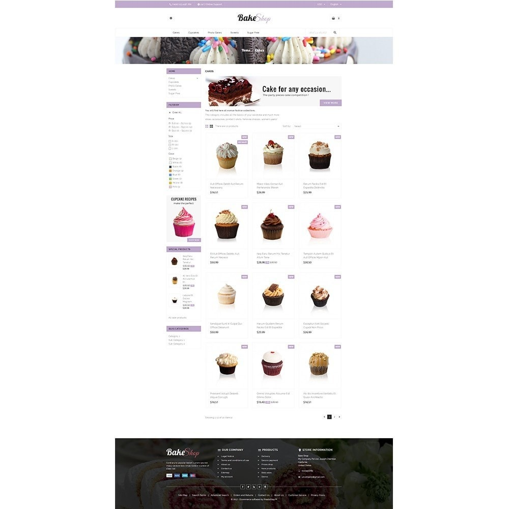 theme - Food & Restaurant - Bake Shop - 3