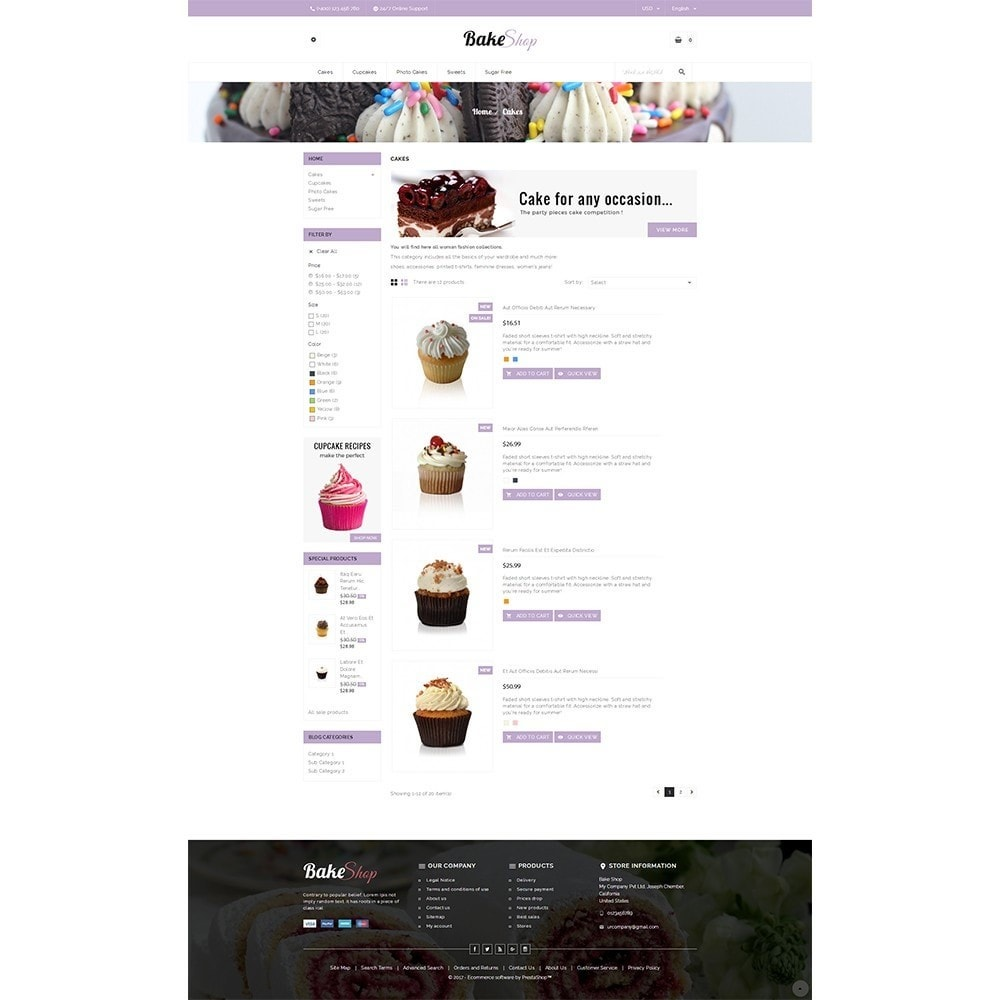 theme - Alimentation & Restauration - Bake Shop - 4