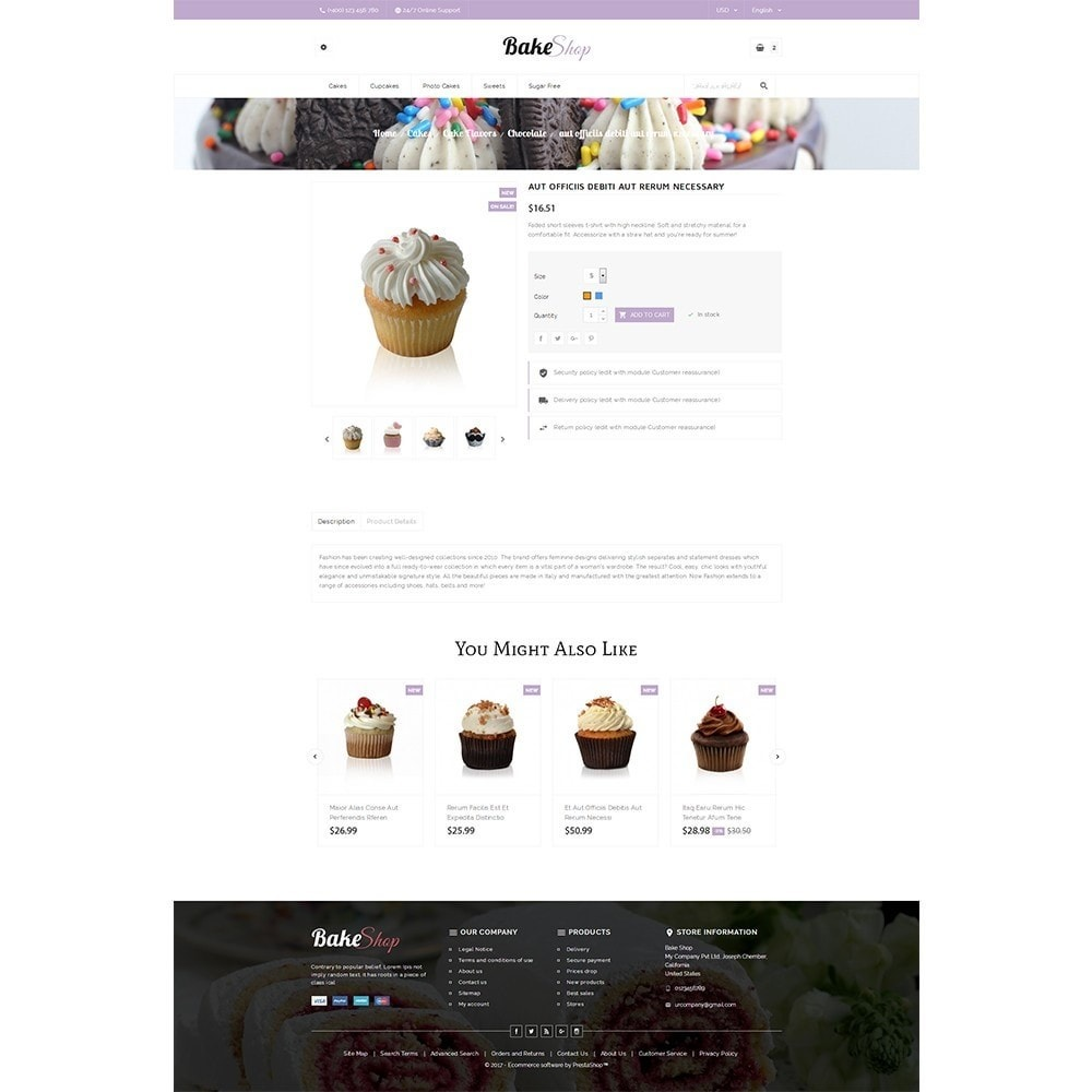 theme - Food & Restaurant - Bake Shop - 5